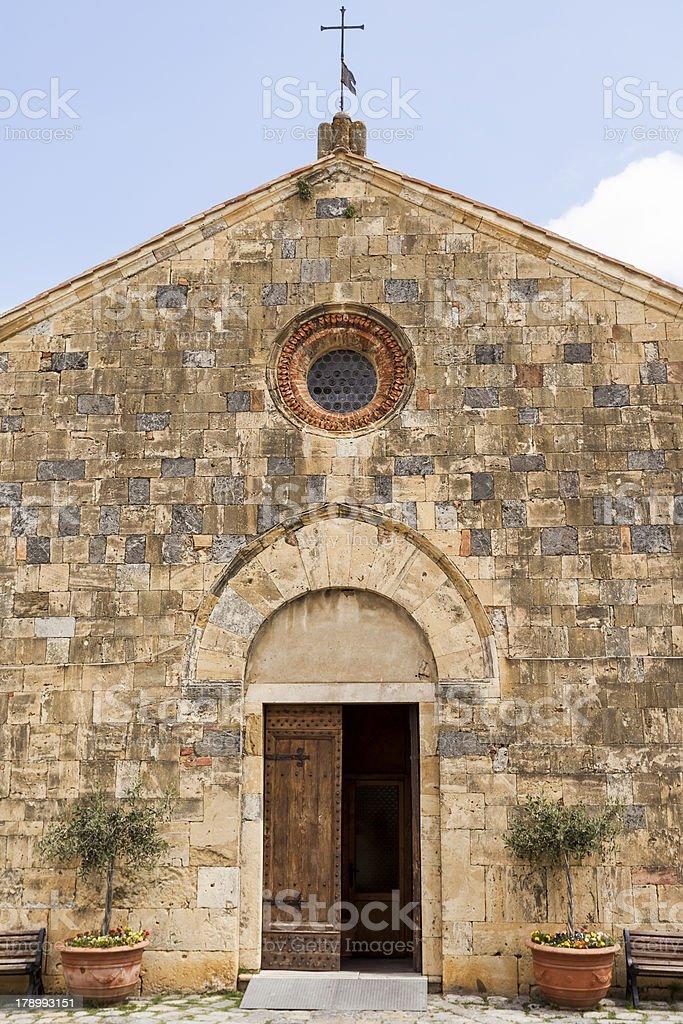 Church in Monteriggioni royalty-free stock photo