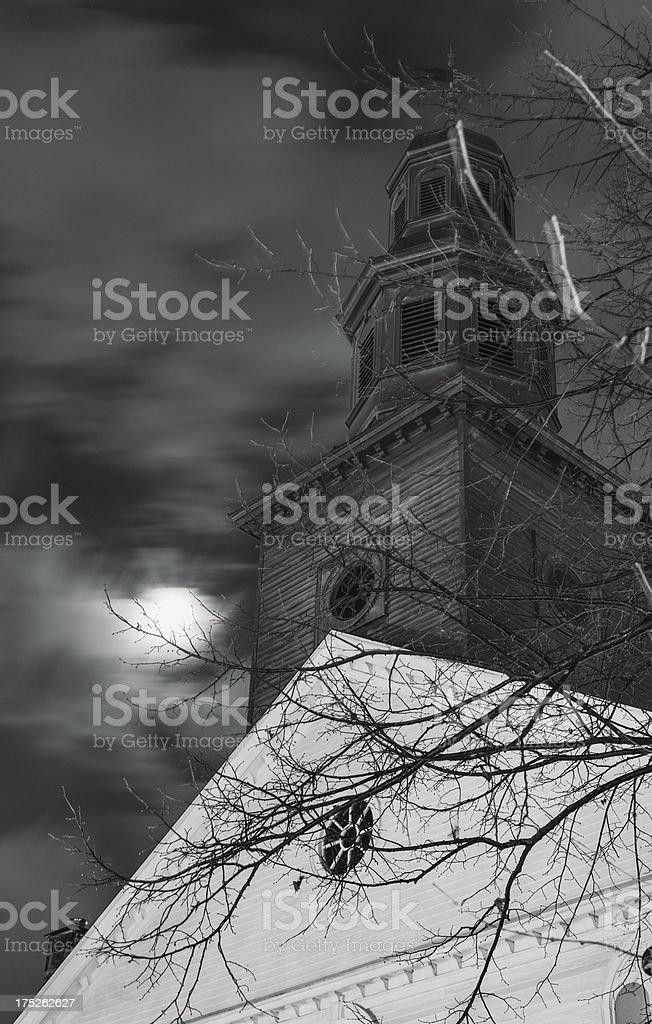 Church in Moonlight royalty-free stock photo