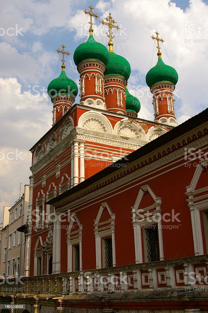 Church in Moscow royalty-free stock photo