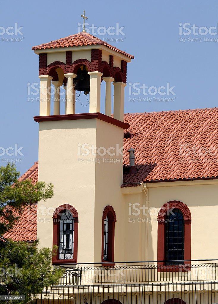 Church in Neos Marmaras stock photo