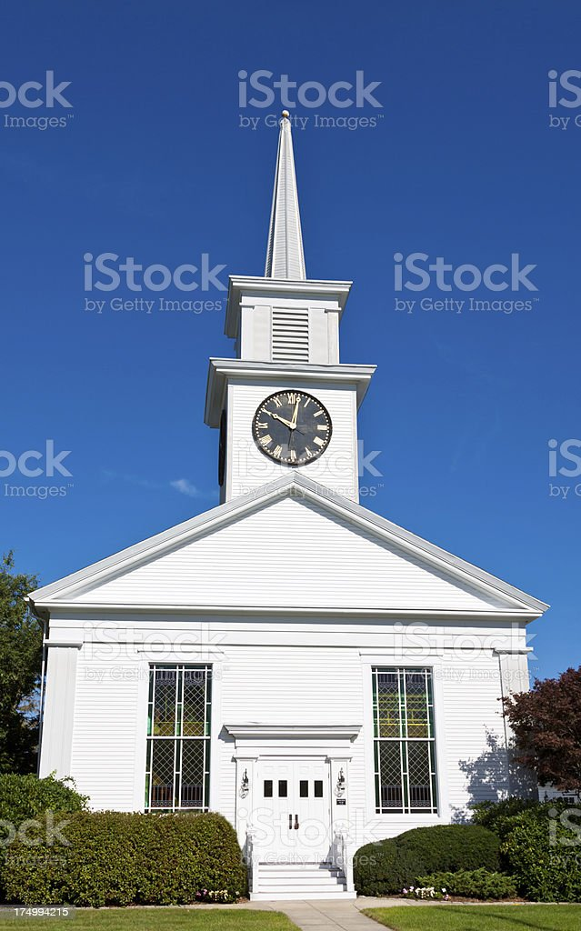 Church in New England royalty-free stock photo