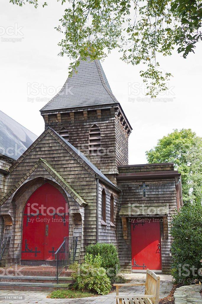 Church in New England, Sandwich, Cape Cod, Massachusetts. royalty-free stock photo