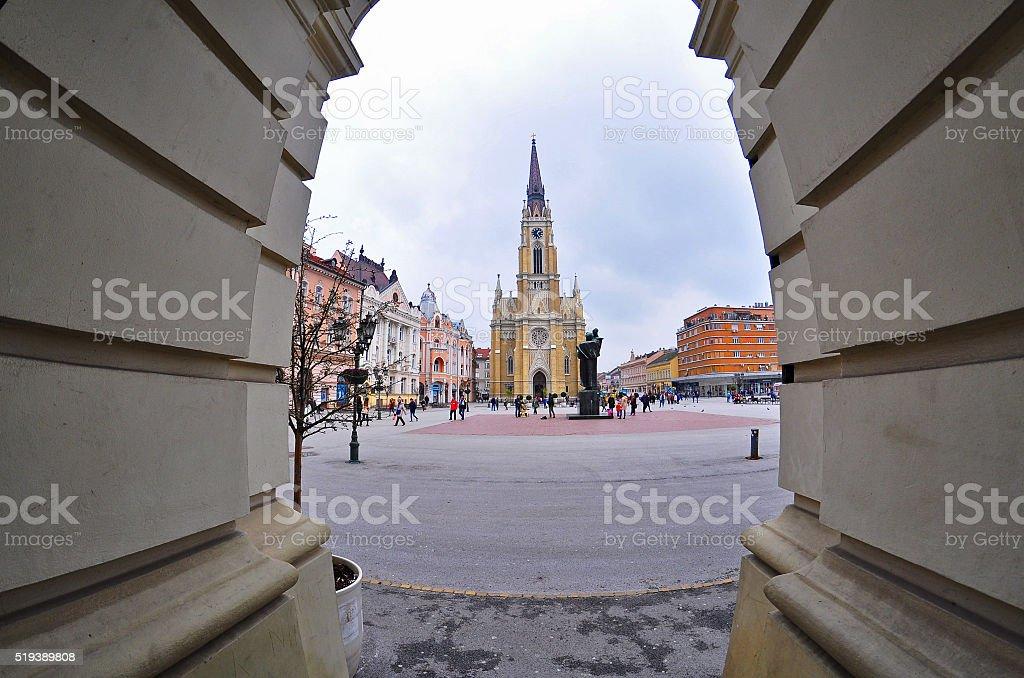 Church in Novi Sad stock photo
