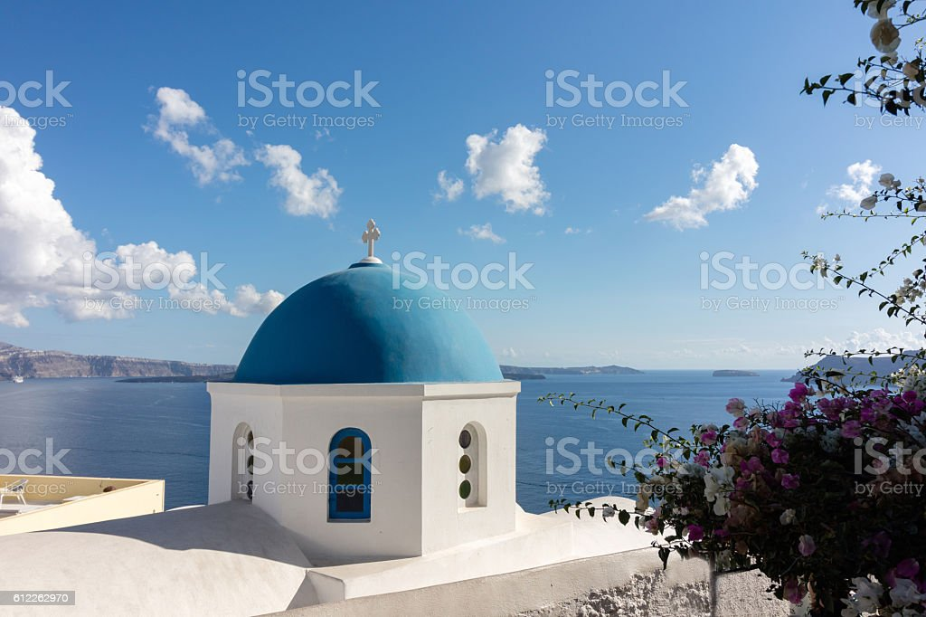Church in Oia (Santorini) - Greece stock photo