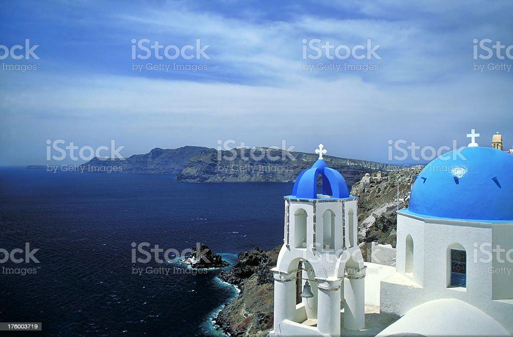 Church in Oia, Santorini royalty-free stock photo