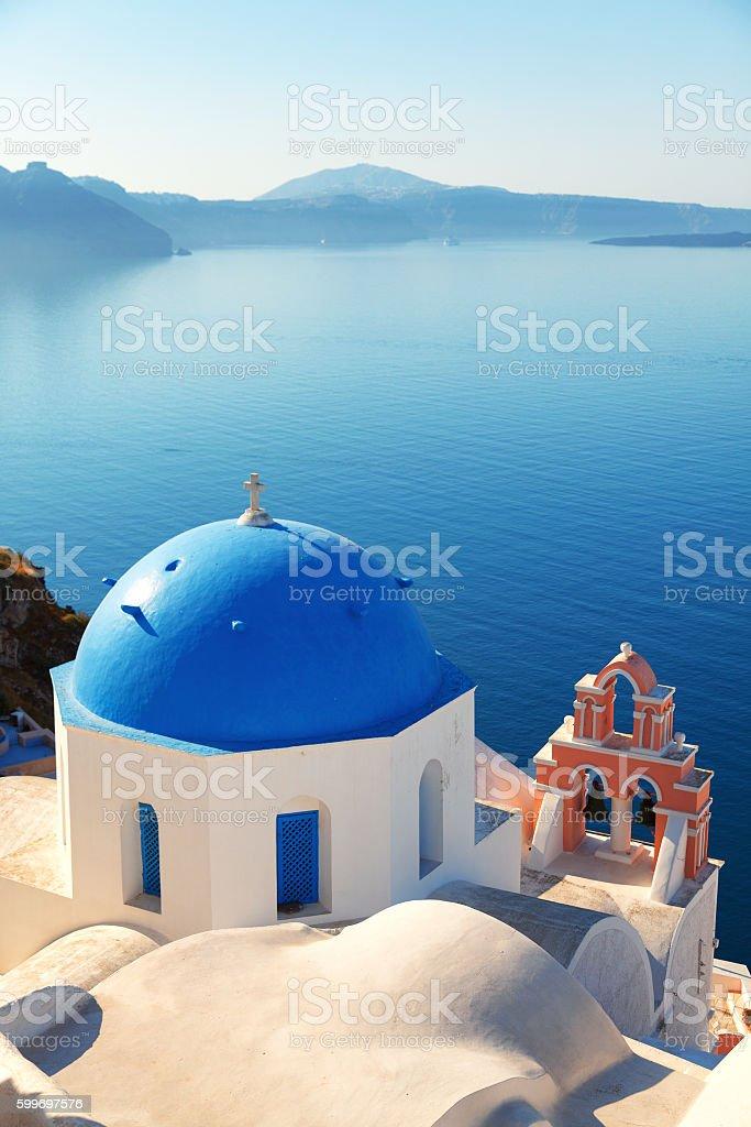 Church in Oia, Santorini stock photo