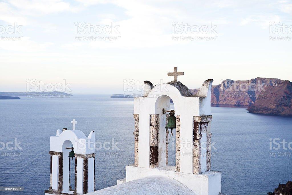 Church in Oia village on Santorini royalty-free stock photo