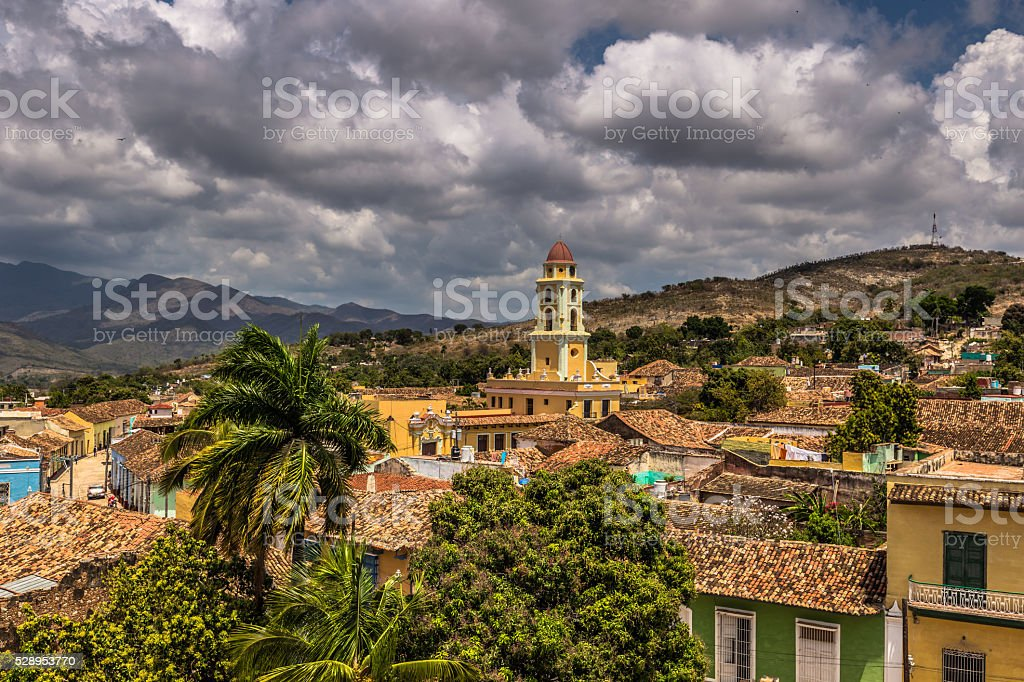 Church in Old Town Trinidad, Cuban Travel Holidays stock photo