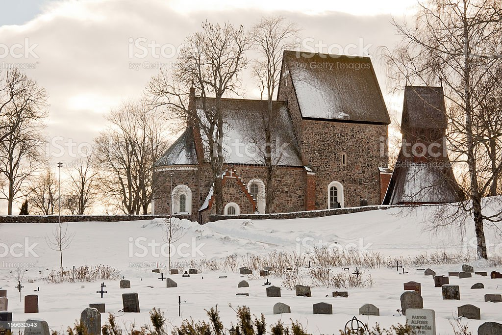 Church in old Uppsala Sweden royalty-free stock photo