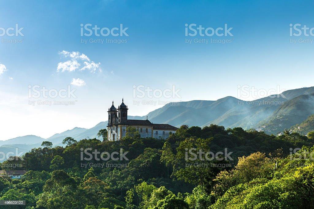 Church in Ouro Preto, Minas Gerais, Brazil stock photo