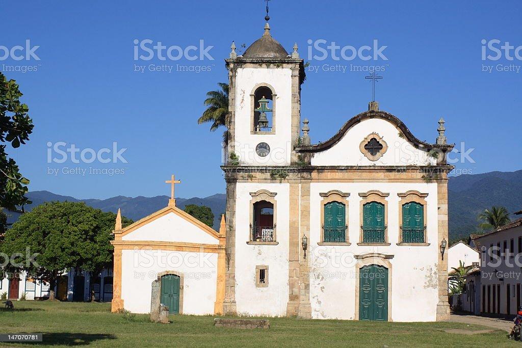 church in Paraty stock photo