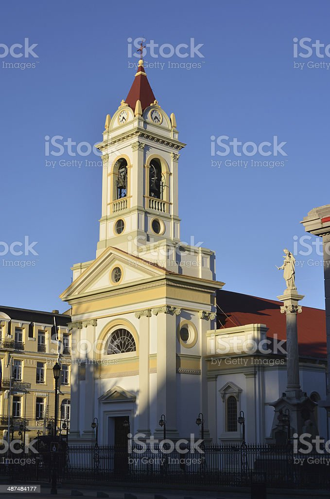 Church in Patagonia, Chile stock photo