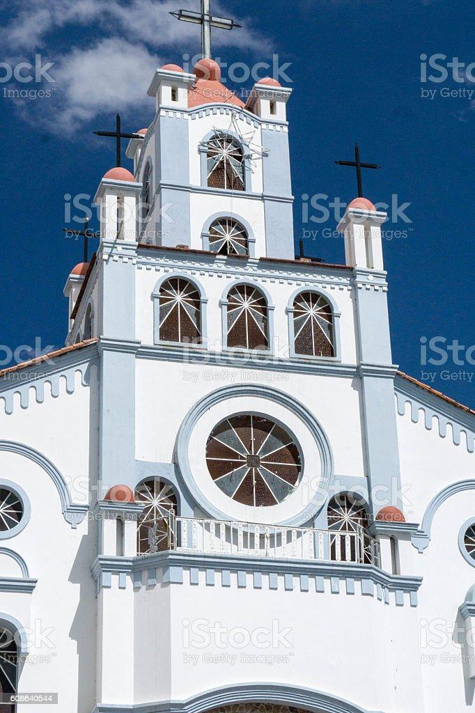 church in Peru stock photo