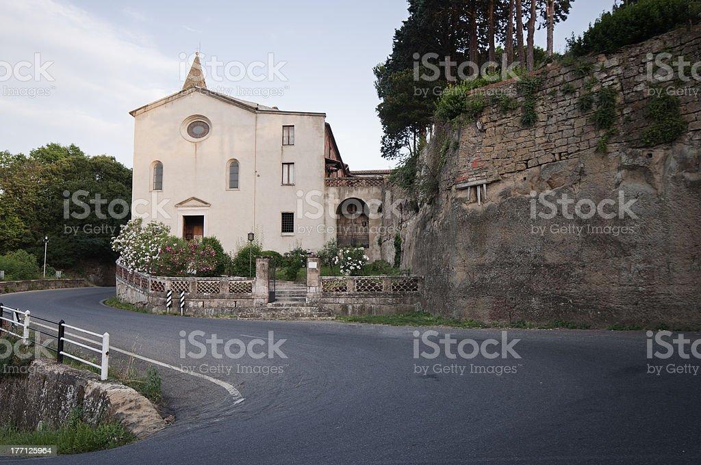 Church in Pitigliano stock photo