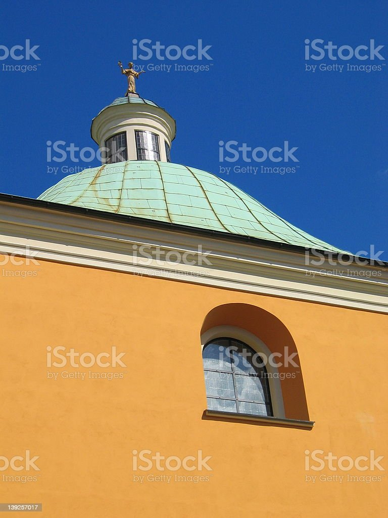 Church in Poznan, Poland royalty-free stock photo