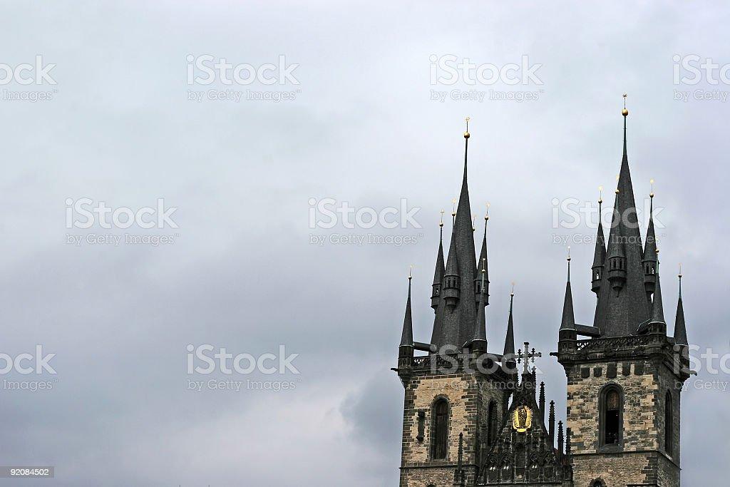 church in Prague stock photo