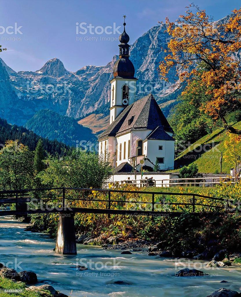 Church in Ramsau stock photo