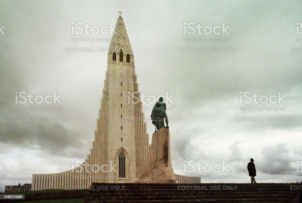 Church in Reykjavik, Iceland stock photo
