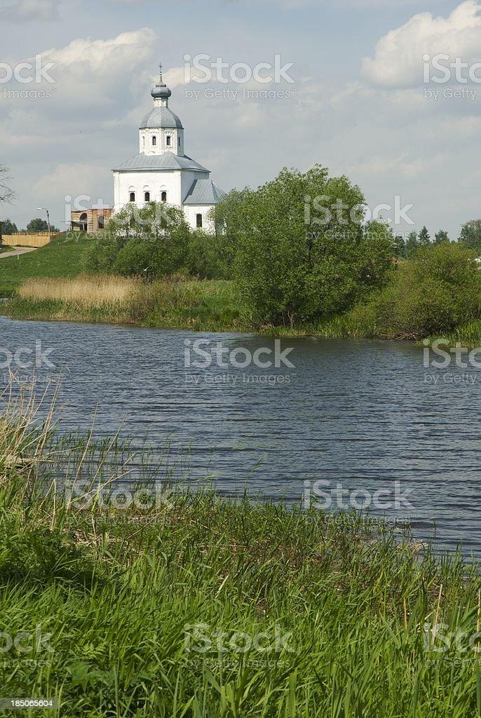 Church in riverside stock photo