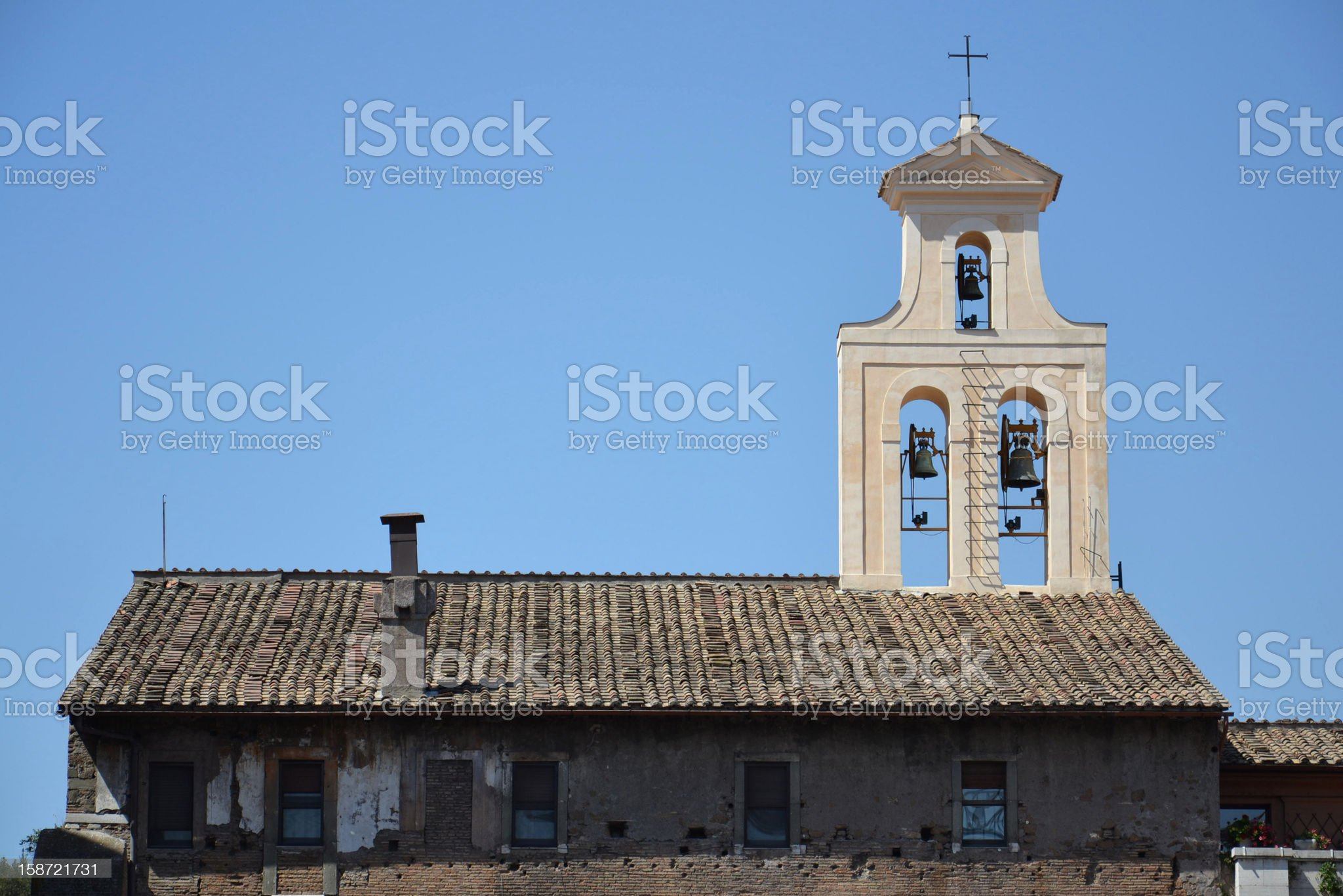 Church in Rome royalty-free stock photo
