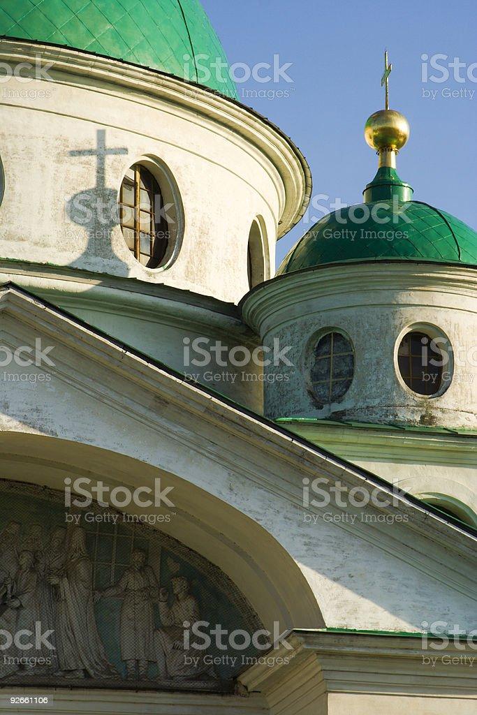 Church in Rostov Kremlin. Russia stock photo
