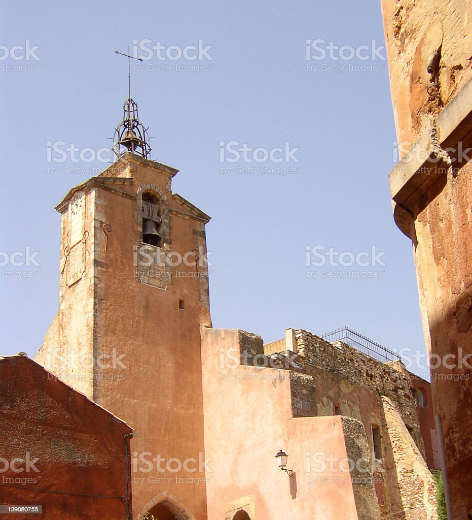 Church in Roussillon (France) royalty-free stock photo
