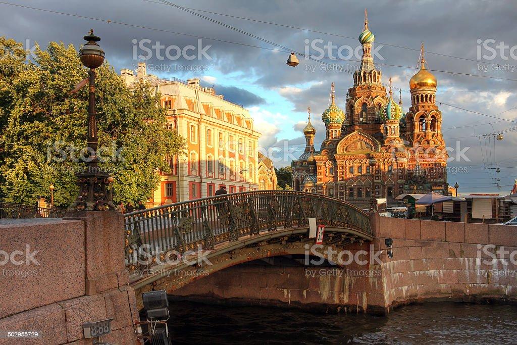 Church in Saint Petersburg, Russia stock photo