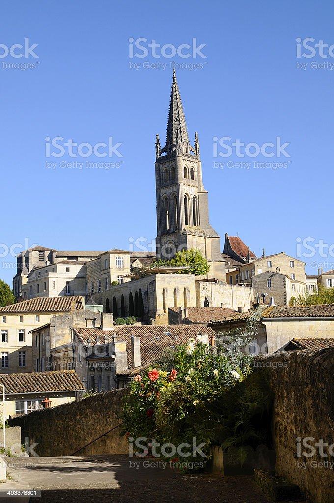 Church in Saint-Emilion stock photo