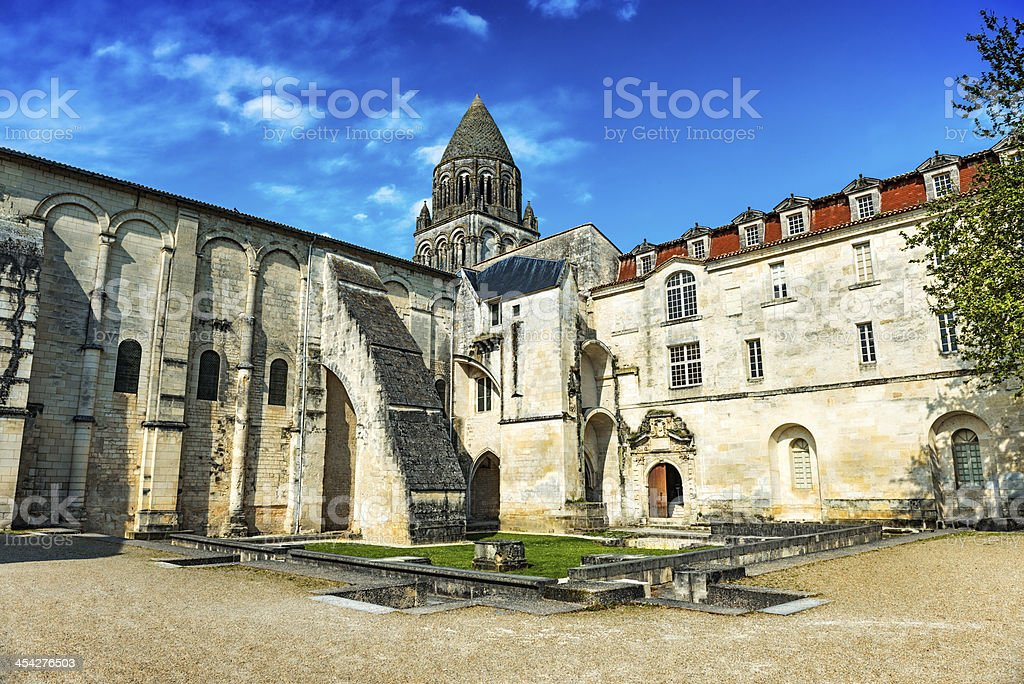 Church in Saintes Poitou-Charente, France royalty-free stock photo