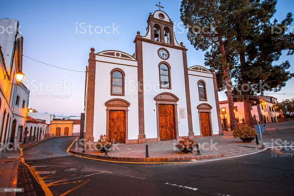 Church in San Bartolome de Tirajana stock photo