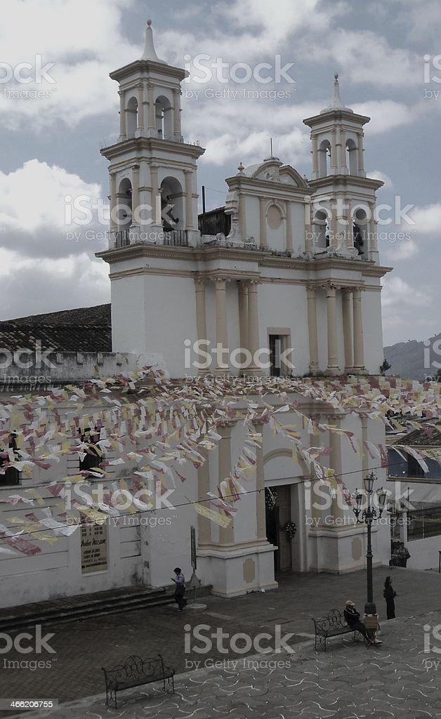 church in San Christobal Chiapas Mexico stock photo