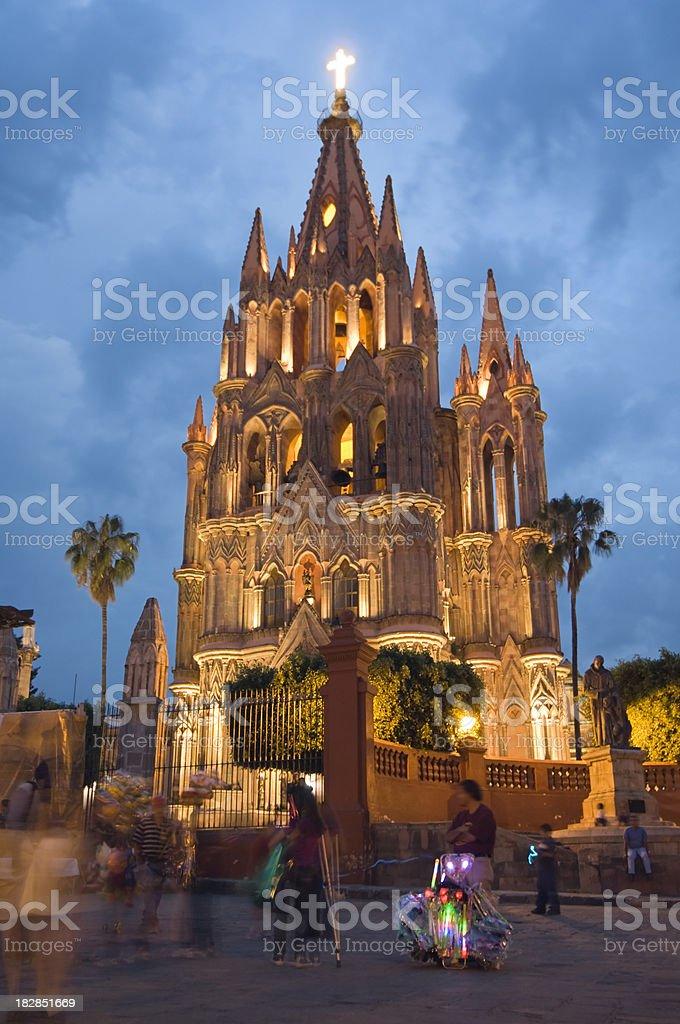 Church in San Miguel de Allende, Mexico stock photo