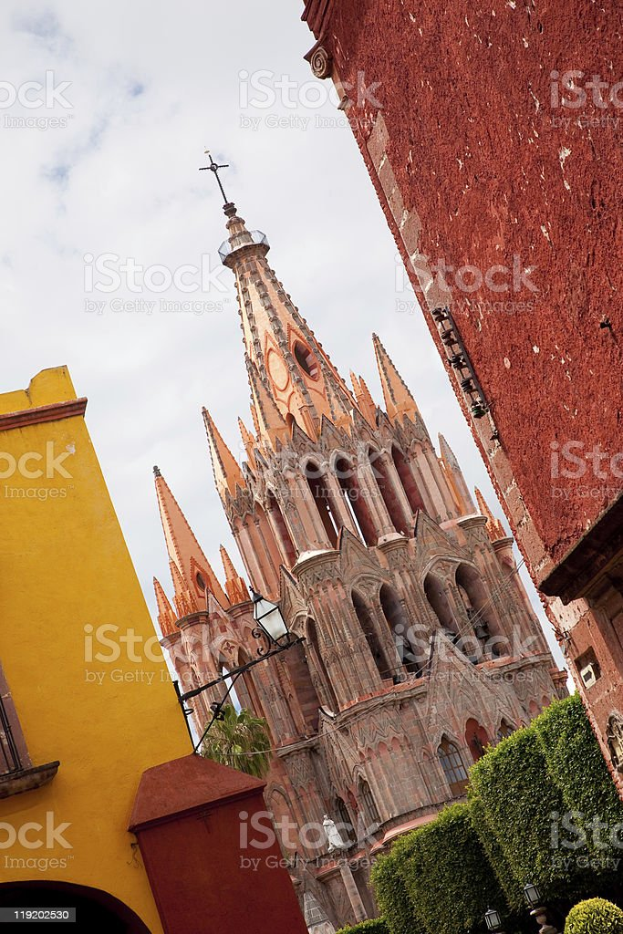 Church in San Miguel royalty-free stock photo