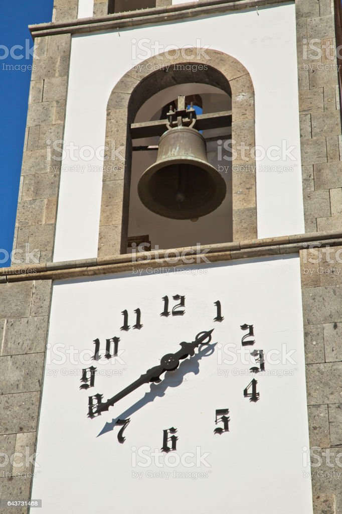 A church in Santiago de Teide. Tenerife island, Spain stock photo