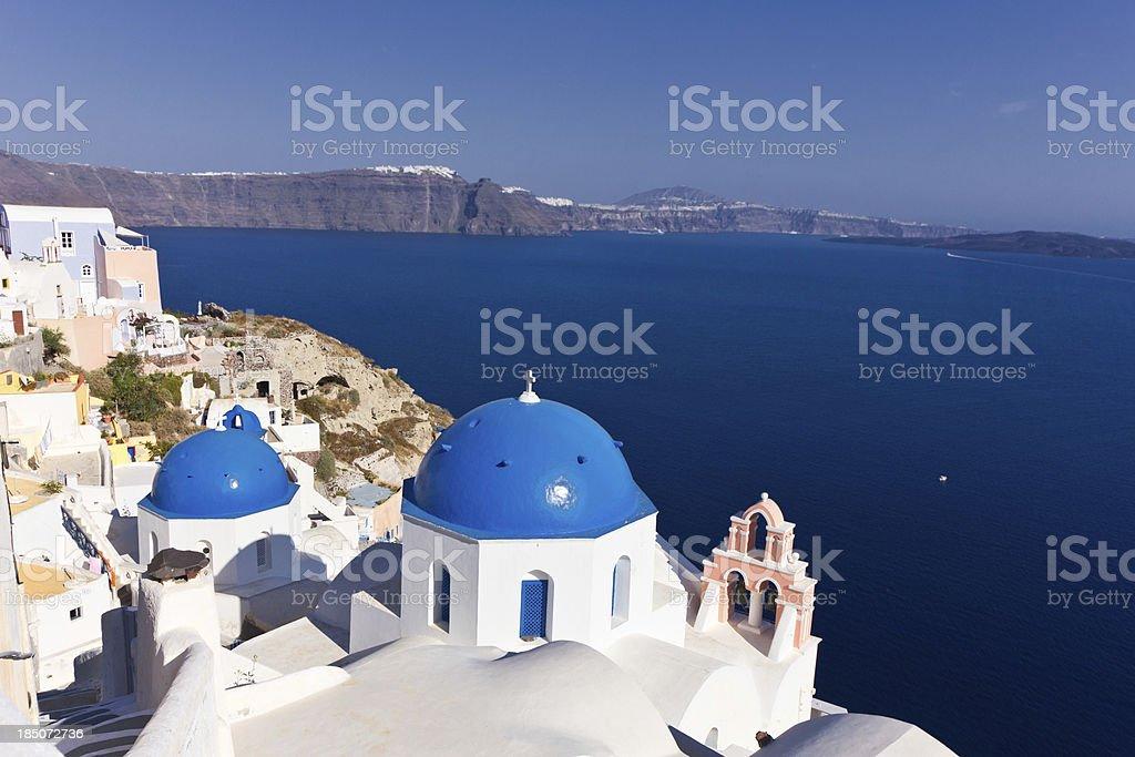 Church in Santorini, Greece royalty-free stock photo