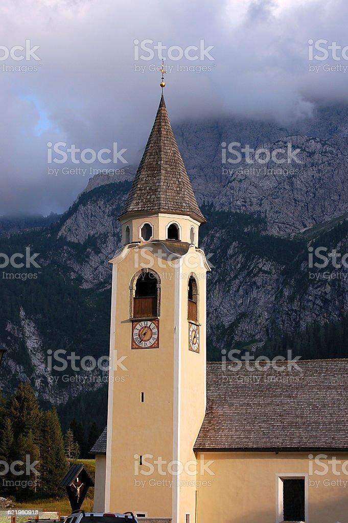 Church in Sappada - Belluno Italy stock photo
