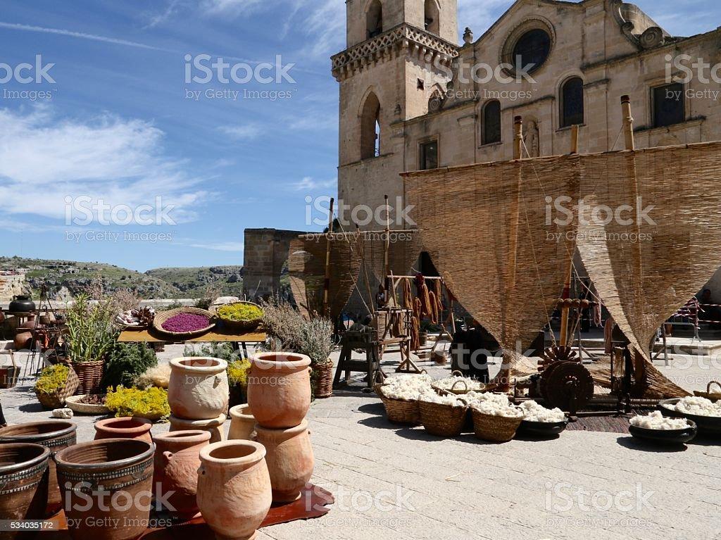 Church in Sassi Matera, Italy stock photo