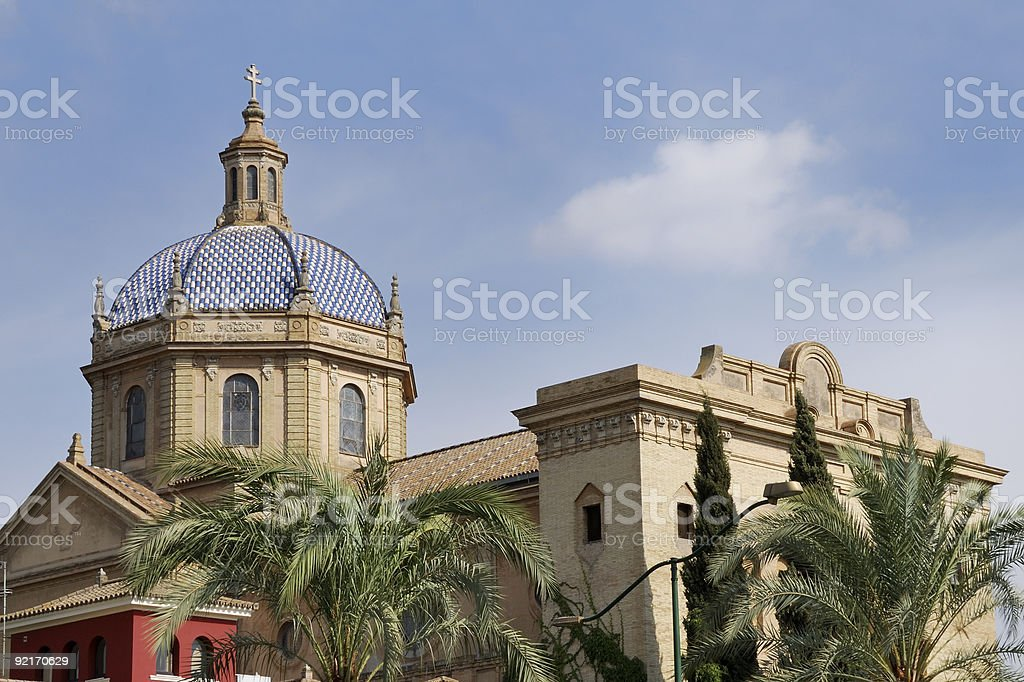 Church in Sevilla royalty-free stock photo