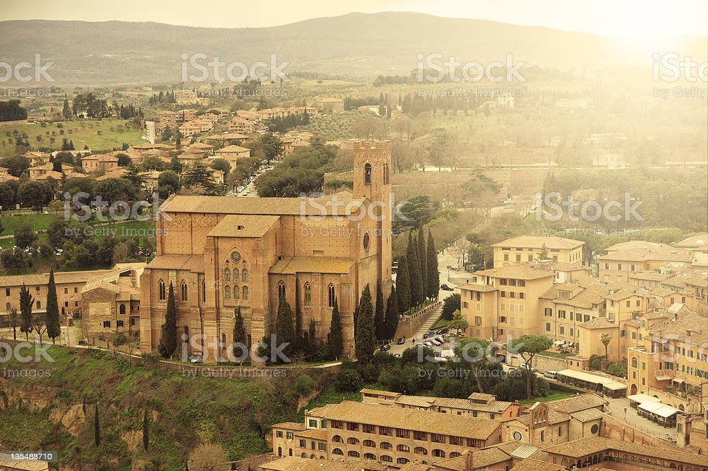 Church in Siena royalty-free stock photo