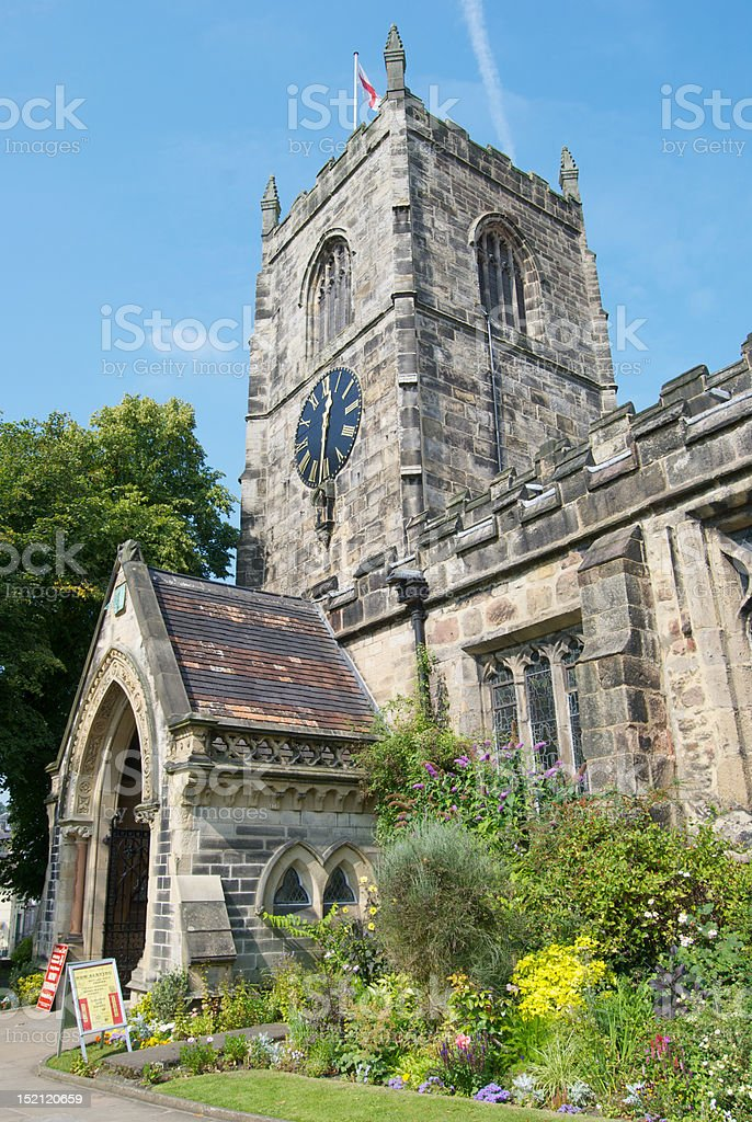 Church in Skipton, North Yorkshire stock photo