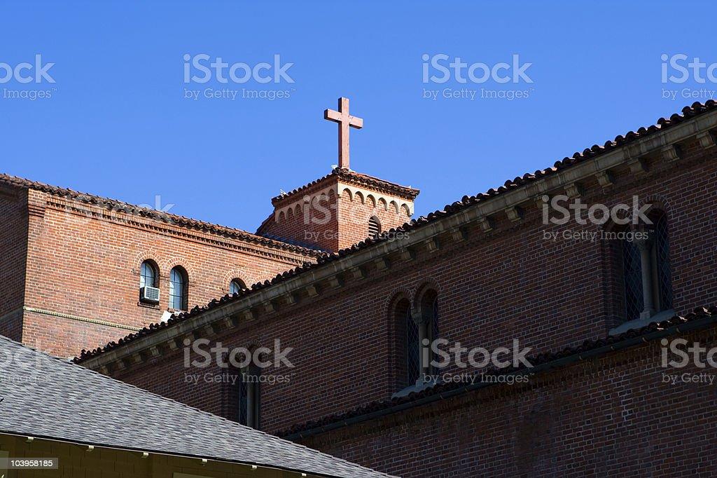 church in sky stock photo