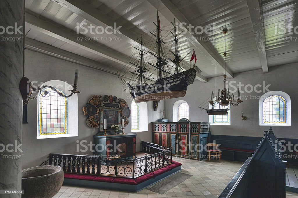 Church in Sonderho, Fano, Denmark stock photo