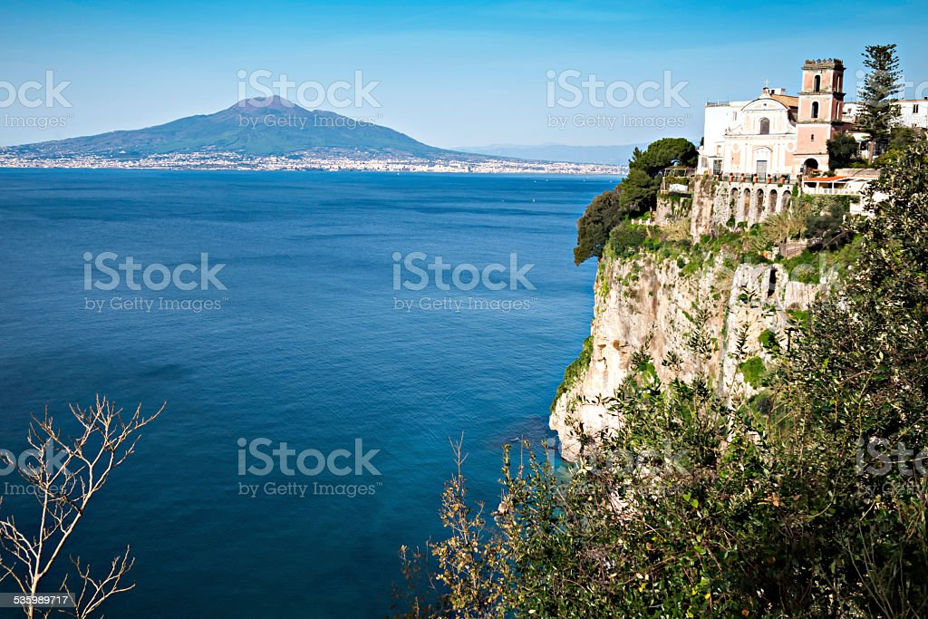 Church in Sorrento coast, Naples. Italy stock photo