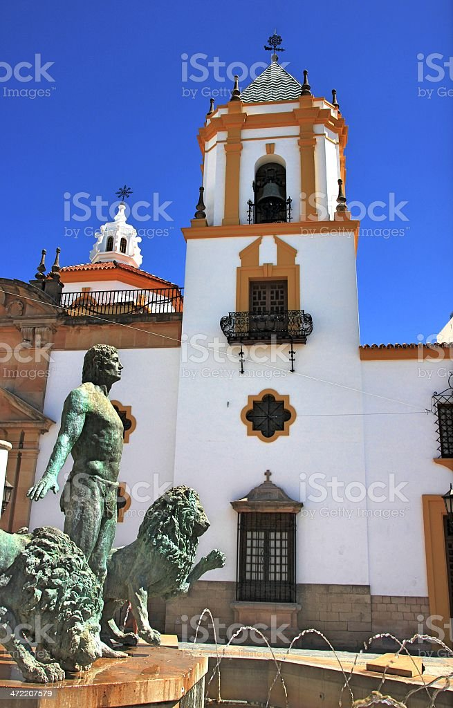 Church in Spain stock photo