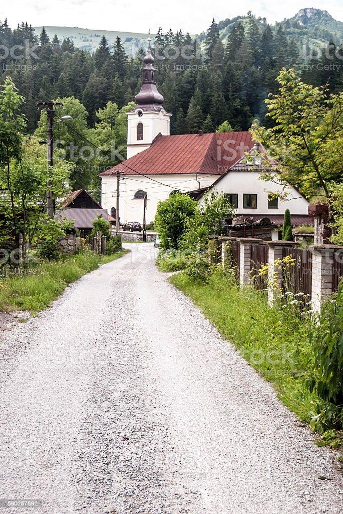 church in Stare Hory in Slovakia stock photo