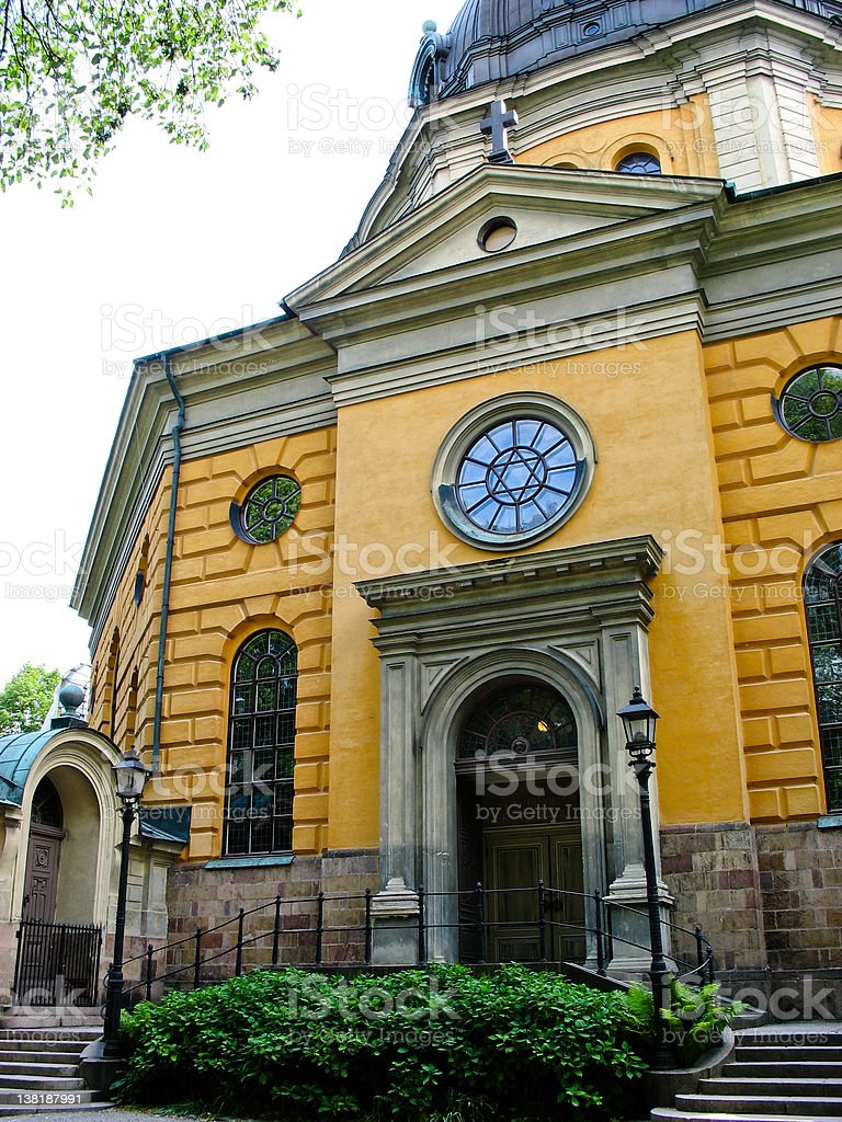 Church in Stockholm (Sweden) stock photo