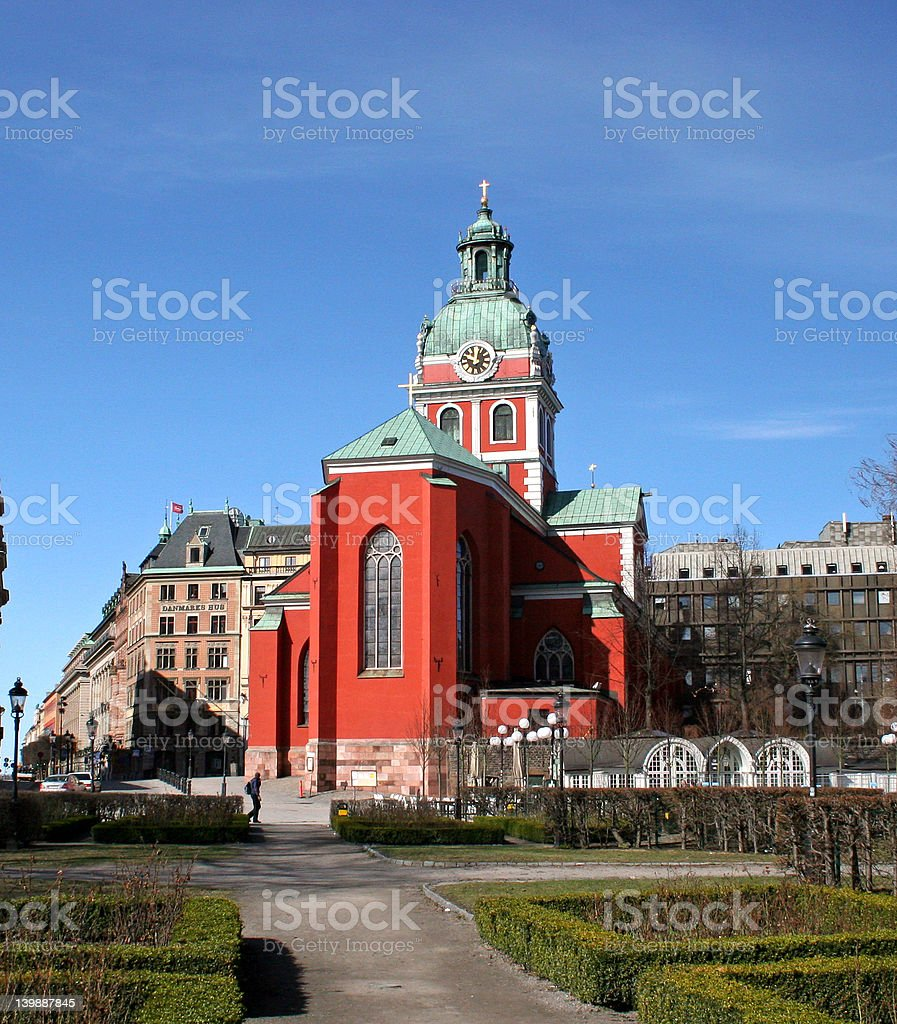 Church in Stockholm, Sweden royalty-free stock photo