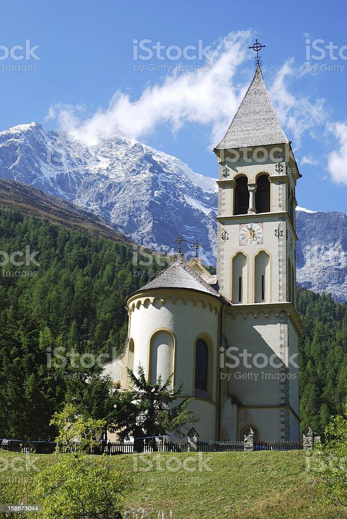 Church in Sulden stock photo