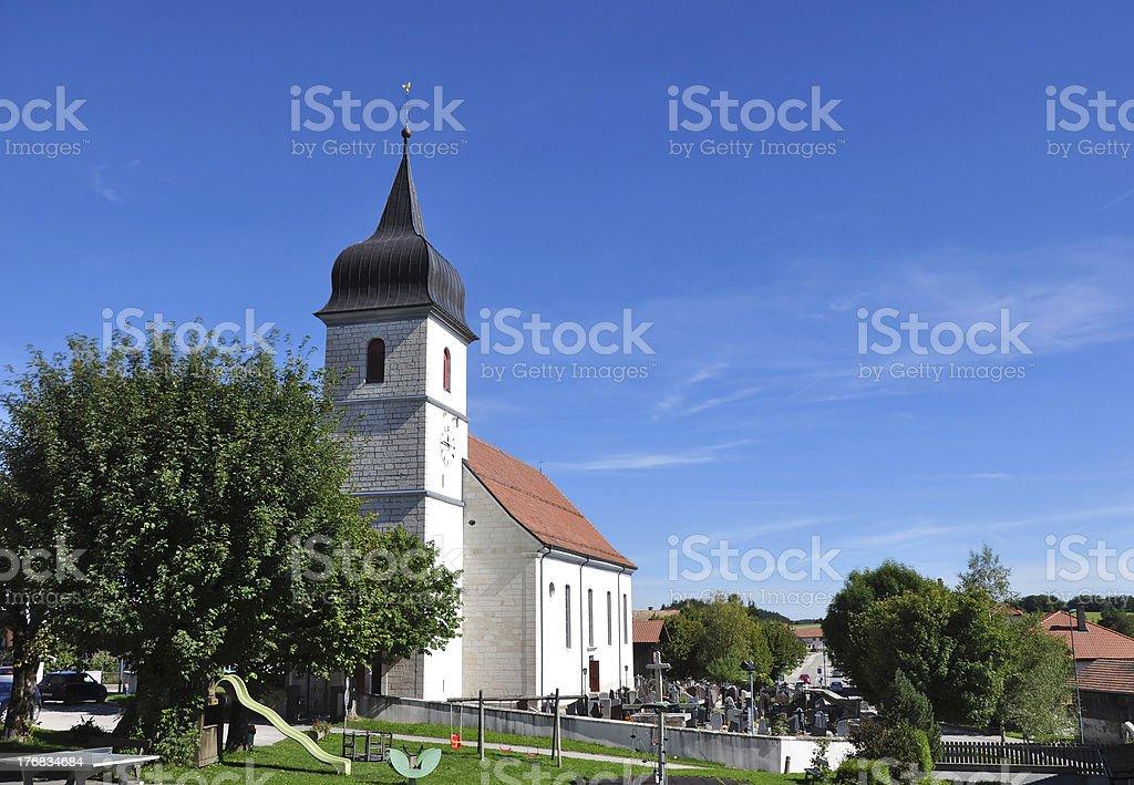Church in Switzerland stock photo