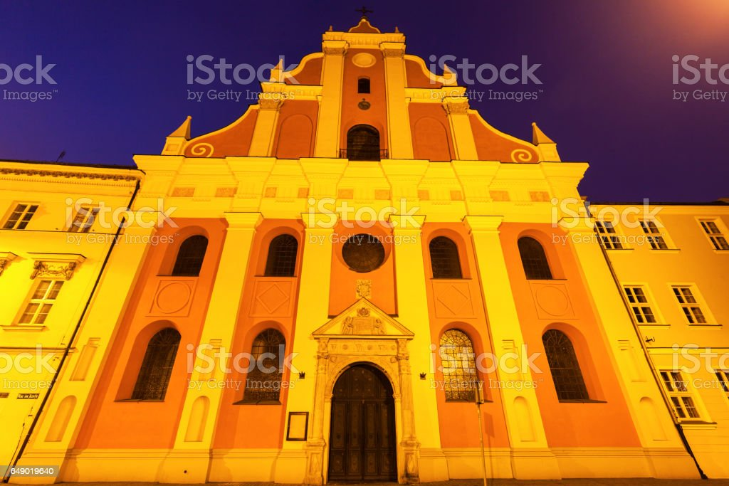 Church in the center of Kalisz stock photo